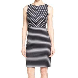 Sheath Nautical Stripes Dress